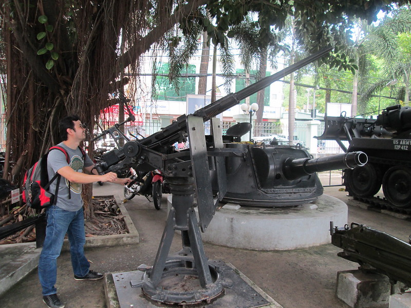 Jayson Concepcion at War Remnants Museum in Ho Chi Minh City, Vietnam