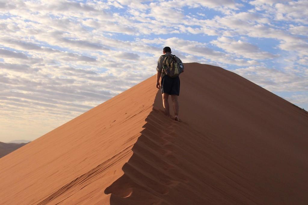 Brennan PetersonWood hiking in Namibia's Namib-Naukluft National Park