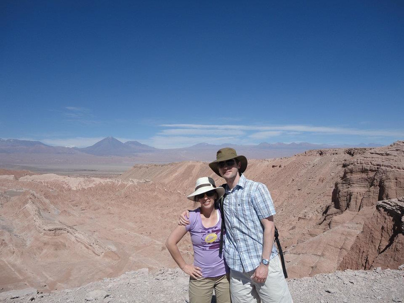 Natalie Wilkens and Tom Hoaglund at the Atacama Desert in Chile