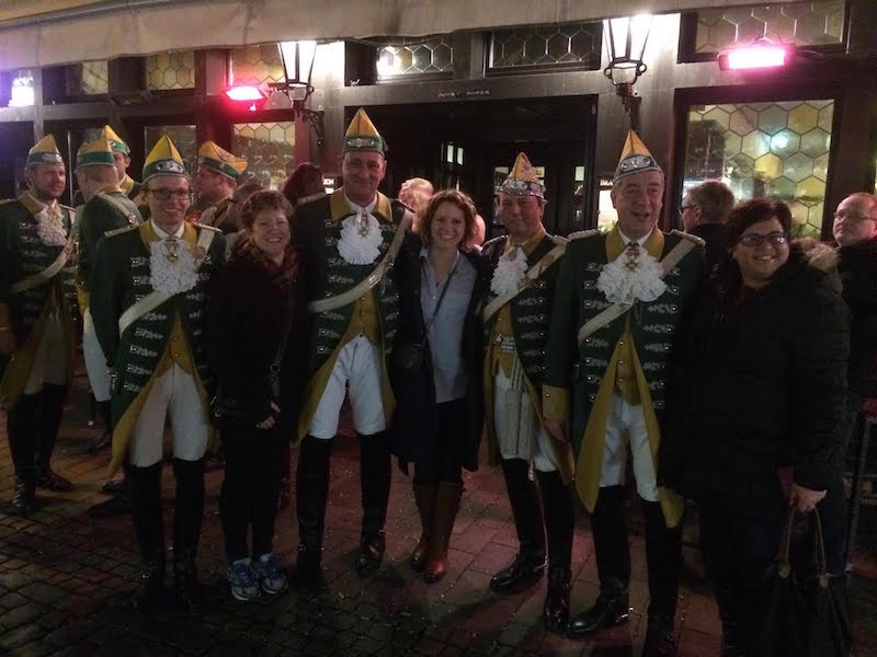 Trish Collins at Carnival in Germany