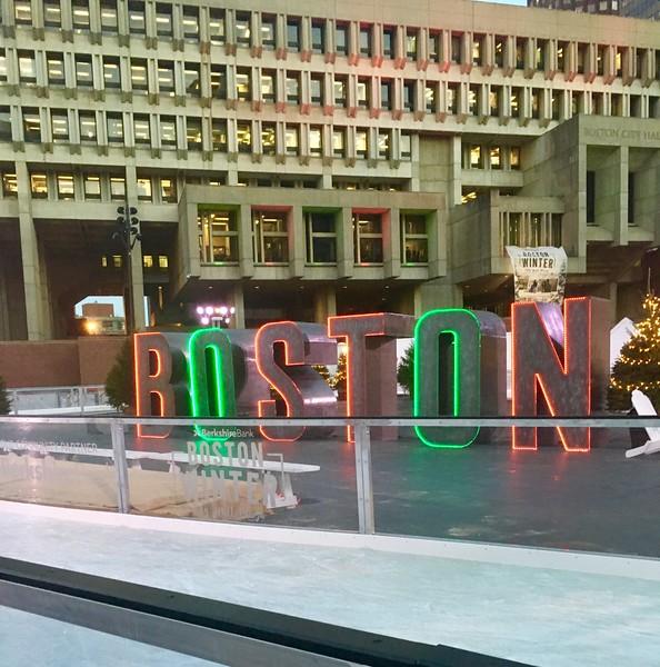 Boston Winter at City Hall Plaza