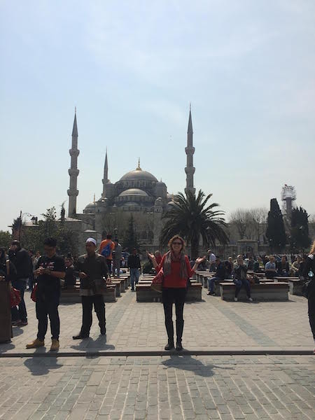 Trish Collins in Istanbul, Turkey