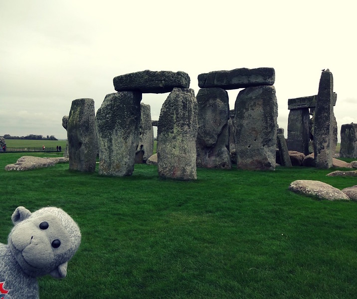 Vicky Sosa Buddy the Traveling Monkey at Stonehenge