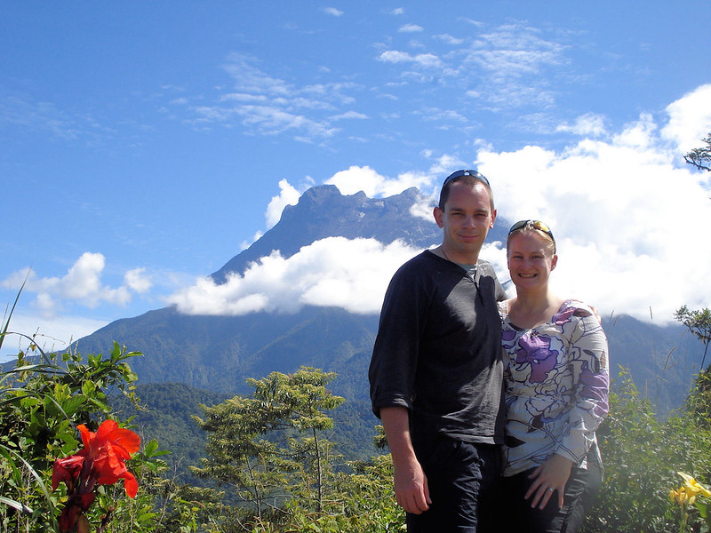 Heather Cole and Pete on the Malaysian island of Borneo