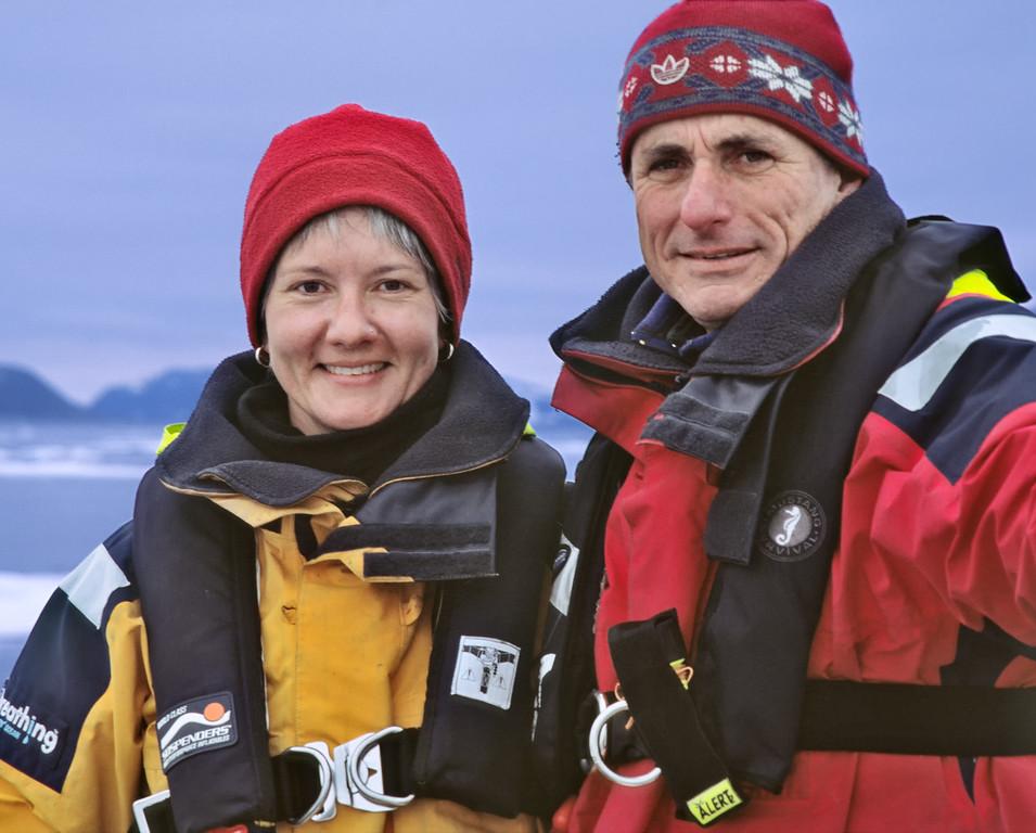Phyllis and John in Hinlopen Strait.