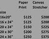 print prices