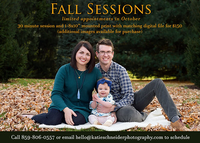 Fall Mini Sessions in Cincinnati, OH 2019
