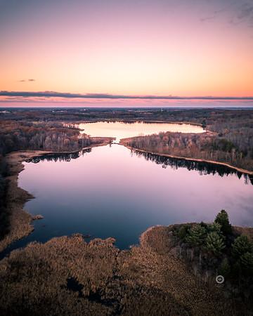 Sunset over Mendon Ponds Park - Published in D&C - Nov. 2017