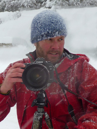 """Me during the """"blizzard"""" of 09. Pic by Aaron Kobilis"""
