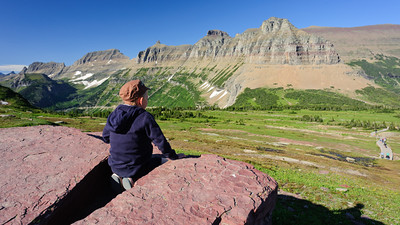 G checks out Logan Pass, Glacier National Park.
