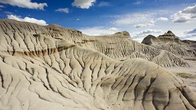 Sandstone rills, Dinosaur Provincial Park.