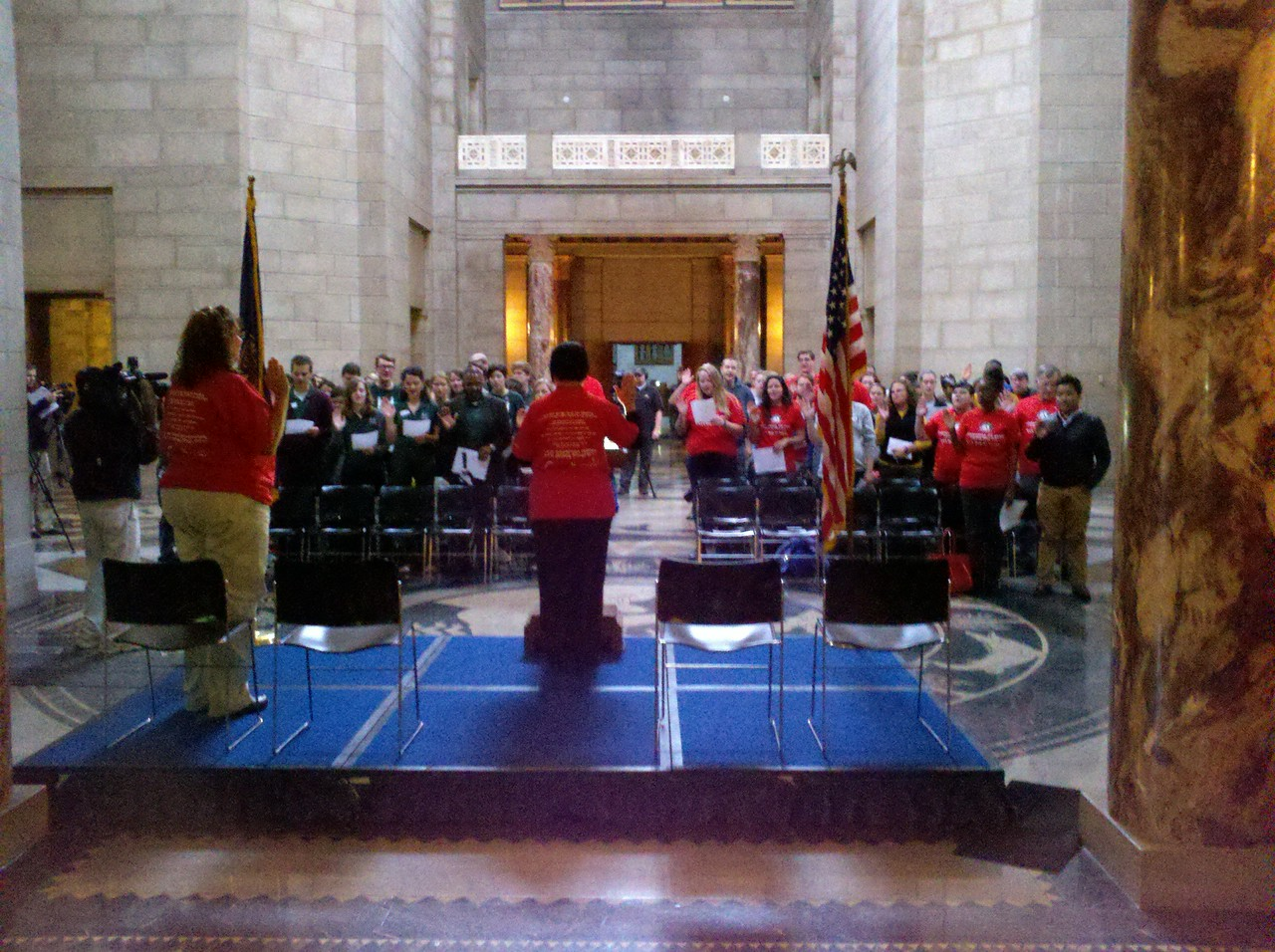20th Anniversary of AmeriCorps, Serve Nebraska swearing in. Corporation for National and Community Service Photo.