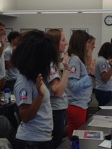 Mayor Paul Meyer of Casper joined ServeWyoming to celebrate two decades of AmeriCorps Service in Wyoming with a pledge ceremony. Corporation for National and Community Service Photo.