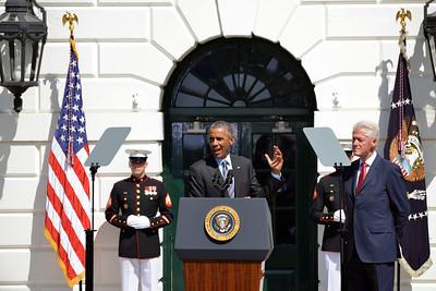 Obama and Clinton celebrate 20th Anniversary of AmeriCorp