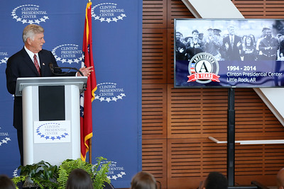 The Arkansas Service Commission and the Clinton Presidential Center brought together Governor Mike Beebe along with local ambassadors to honor AmeriCorps members and swear-in the incoming class. Corporation for National and Community Service Photo.