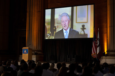 Video message from the 42nd President of the United States, Bill Clinton. Corporation for National and Community Service Photo.