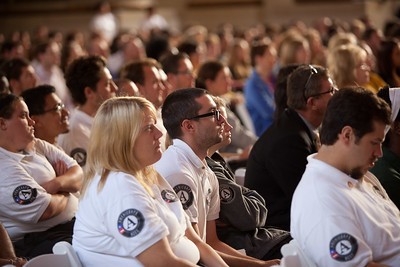 AmeriCorps members listen during the 20th Anniv event at Mellon auditorium in Washington, D.C. Corporation for National and Community Service Photo.