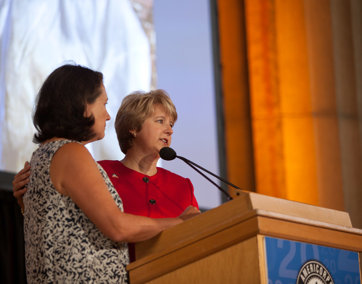 Shirley Sagawa, CNCS CEO, Wendy Spencer. Corporation for National and Community Service Photo.