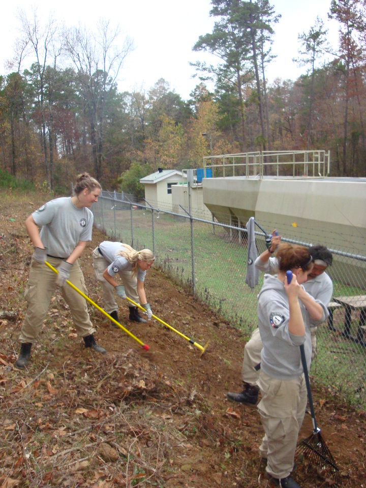 Sun 1 helps prepare land in case of wildfire in Arkansas during Round 1 of Class 18. AmeriCorps NCCC. Corporation for National and Community Service Photo.