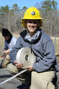 AmeriCorps NCCC member Michelle Desch, Delta 4. AmeriCorps NCCC. Corporation for National and Community Service Photo.