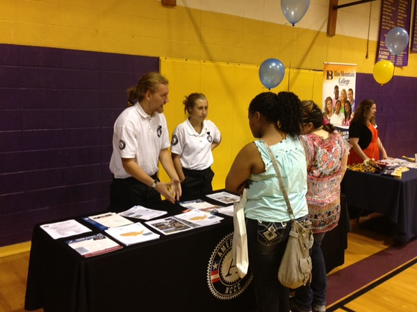 Two members of River 4 at a CAP event at St. Aloysius High School in Vicksburg, MS.