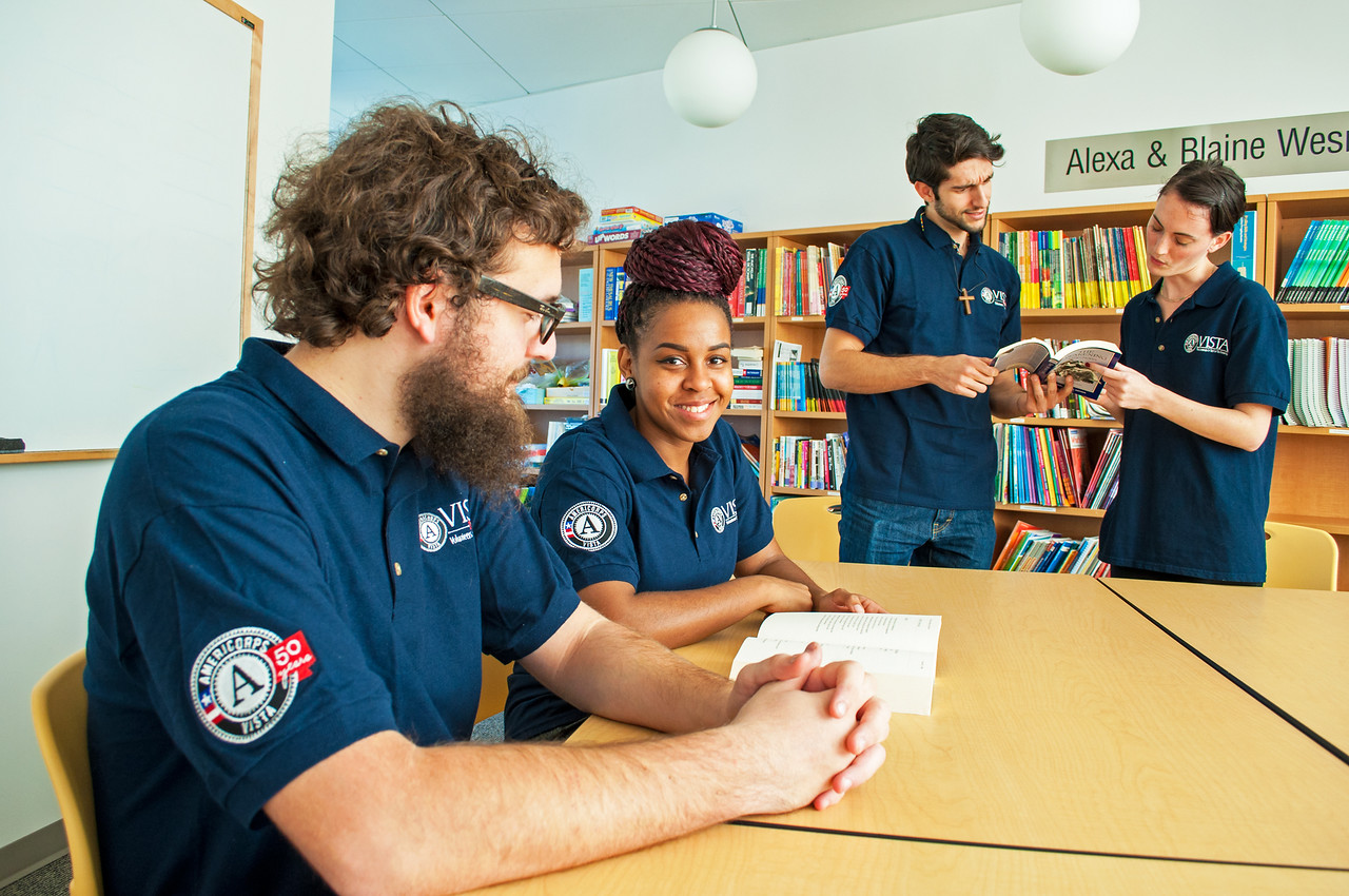 AmeriCorps VISTA members working on education, literacy, and access issues in Austin, TX.