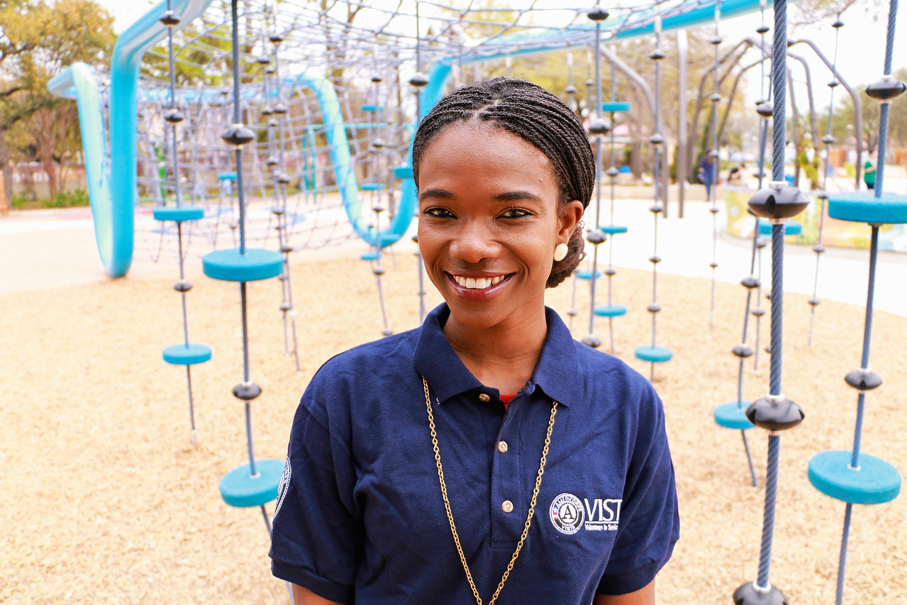 Eva Boateng is an AmeriCorps VISTA member serving in San Antonio, TX.
