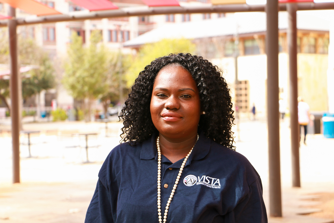 Rodnekka Hall is an AmeriCorps VISTA member serving with My Brother's Keeper San Antonio where she works on Community Engagement & Outreach.