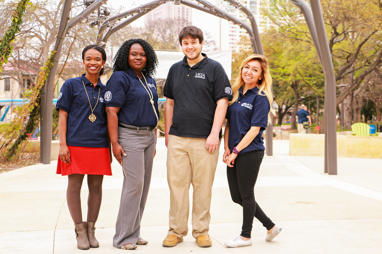 AmeriCorps VISTA members serving in San Antonio, TX.