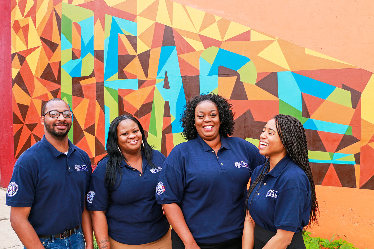 AmeriCorps VISTA members serving with the Office of East Point in San Antonio, TX.