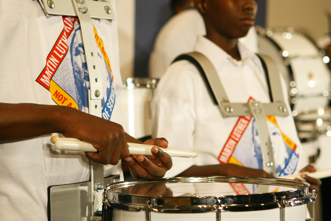 In Washington, D.C., the Martin Luther King, Jr., Day of Service started off with a ceremony at Howard University.  Members of the IDEA Charter School Drum Corps welcomed participants with a performance.  An estimated 10,000 volunteers served through more than 80 projects in and around Washington D.C.  They joined hundreds of thousands of Americans who participated in the 2007 King Day of Service, sponsored by the Corporation for National and Community Service.
