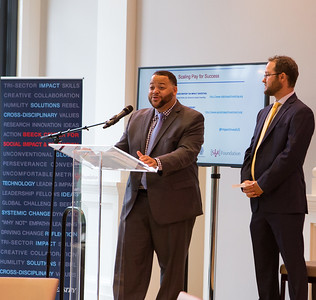 Director of SIF, Michael Smith speaking at Pay for Success Grantee Announcement at Halcyon House in Washington, D.C. Corporation for National and Community Service Photo.Corporation for National and Community Service Photo