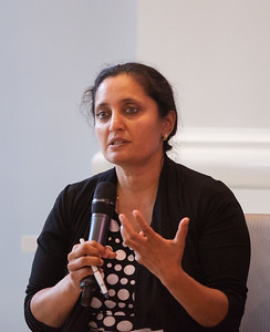 Senior Fellow at the Case Foundation, Sonal Shah moderating a panel at Pay for Success Grantee Announcement at Halcyon House in Washington, D.C. Corporation for National and Community Service Photo.