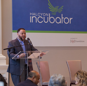 Director of SIF, Michael Smith speaking at Pay for Success Grantee Announcement at Halcyon House in Washington, D.C. Corporation for National and Community Service Photo.