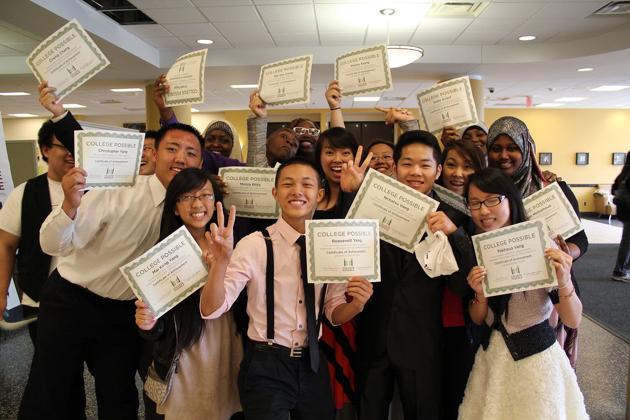 SIF Grantee: Greater Twin Cities United Way – Subgrantee: College Possible – Students at program graduation. Corporation for National and Community Service Photo.