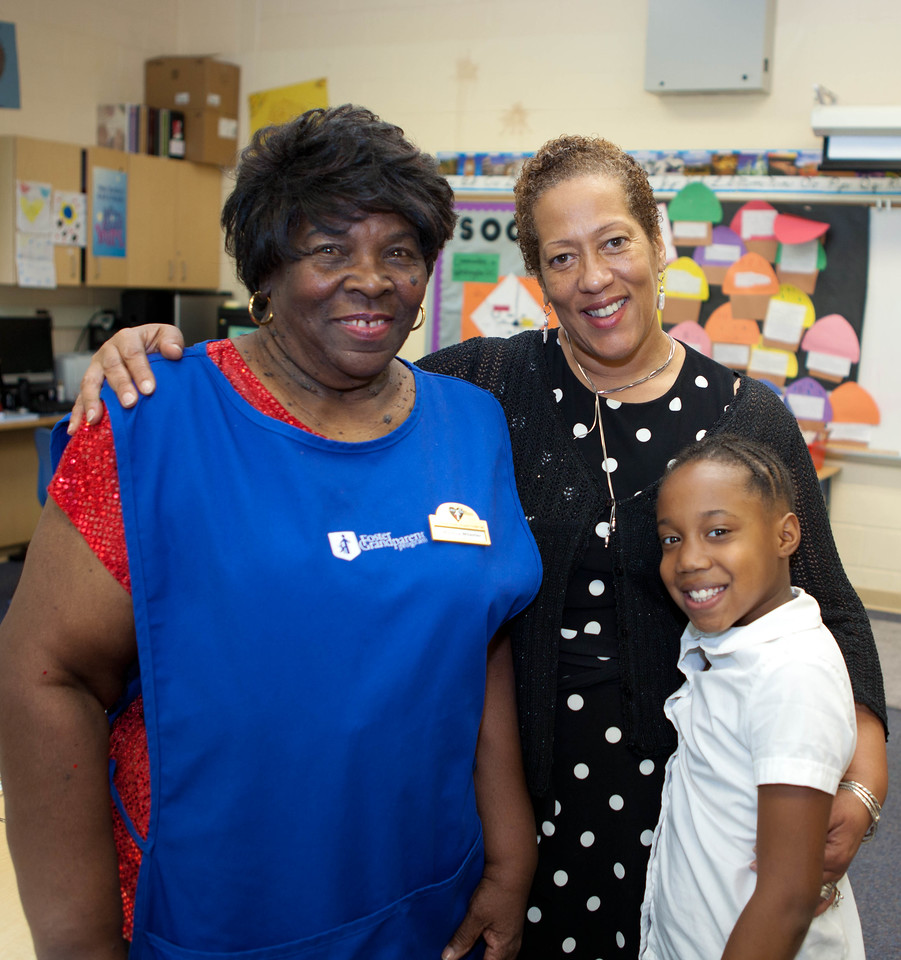FGP, Minette Wheeler, FGP Program Director, Cheryl M. Christmas and student Erin Jackson. Corporation for National and Community Service Photo.