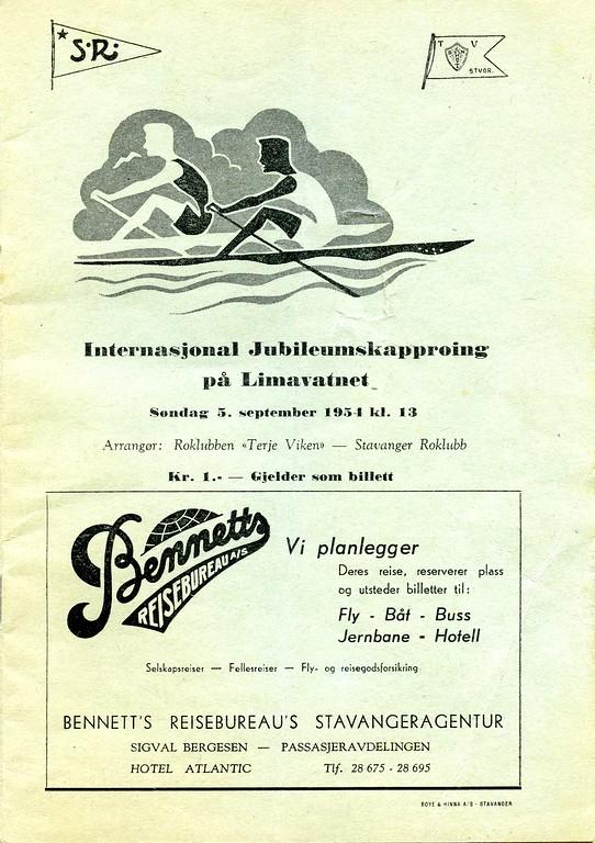1954 - Internasjonal kapproing på Limavatnet  (1)