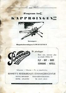 1957 - Program for kapproingen 17.mai 1957