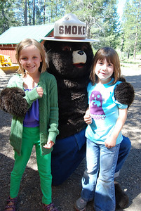 A visit from Smokey Bear to talk about forest health and fire prevention.