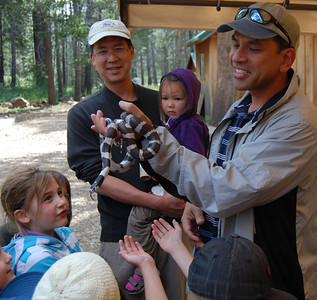 Hands-on opportunities with the wildlife.
