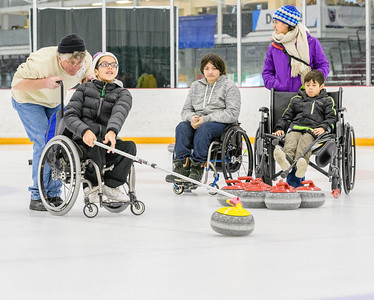 PARK CITY, UT - Feb.27, 2018:  NY Sled Rangers, Curling, National Ability Center (Photo by Dave Obzansky)