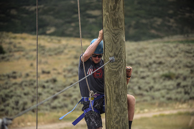 PARK CITY, UT - August 6, 2016:  National Ability Center Challenge Course - USSA Ski Athletes team up with Veterans and the National Ability Center (Photo by Tyler Tate)