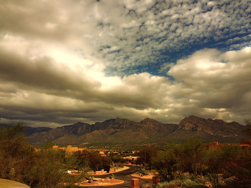 Photo #59 of 365 - Lots of beautiful clouds of the Catalina Mountains!
