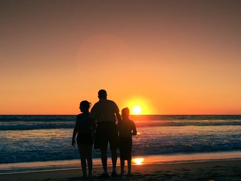 Photo #191 of 365 - Grandkids at Sunset!