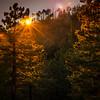Photo #287 of 365 - Sun setting atop Mt Lemmon!