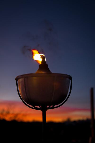 Photo #48 of 365 - Tiki Torch at Sunset