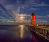 11.13.2016 Supermoon over the red lighthouse