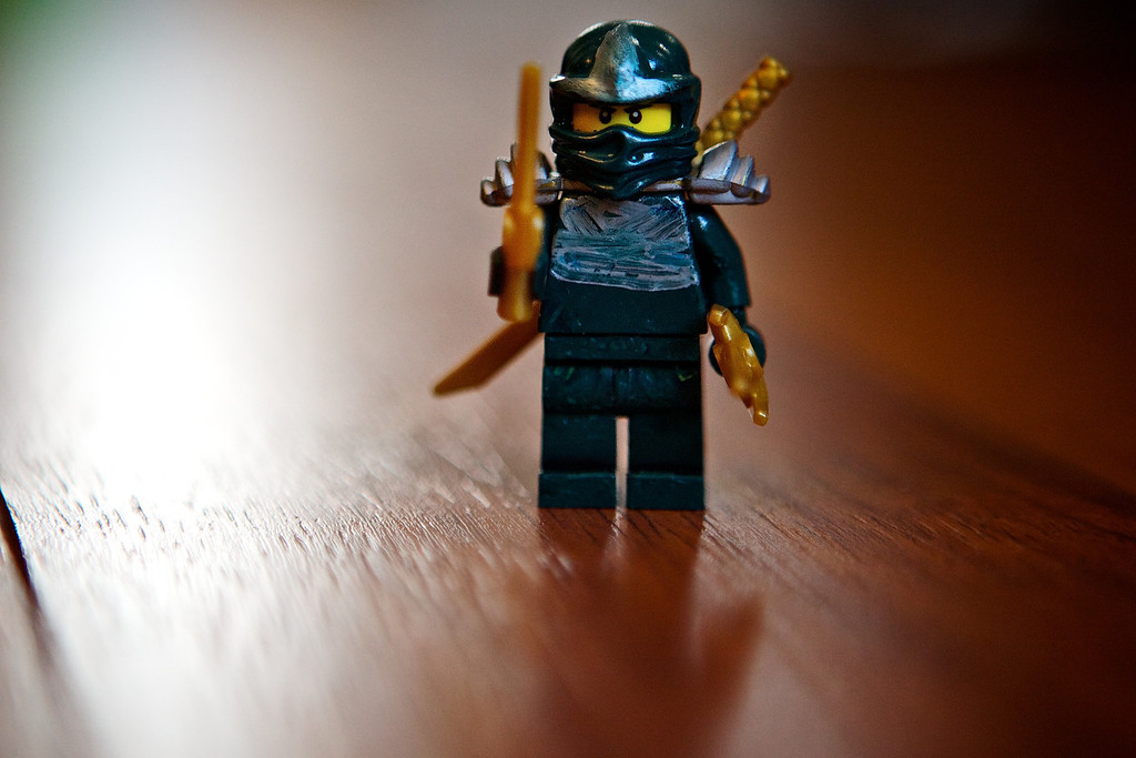 So my son is a fan of Lego Ninjago. This is Lloyd DX the Green Ninja. Lloyd DX is a special ninja and only comes in certain sets and is very expensive. I've seen him cost $35 for the little character or in kits starting at $189 and up... So my son doesn't have an original green ninja yet, so he went onto youtube and found a video showing him how to make his very own Green ninja. So he made a green ninja today, after a few trips to the store for supplies! This is his Green Ninja! <br /> <br /> Day 153 of 365<br /> 06-02-2013