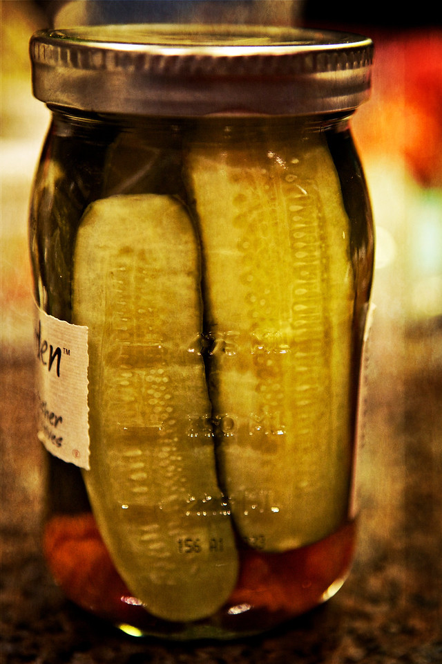 For day 57 of this year's project, I present a lovely jar of pickles. <br /> <br /> Day 57 of 365<br /> 02-26-2013