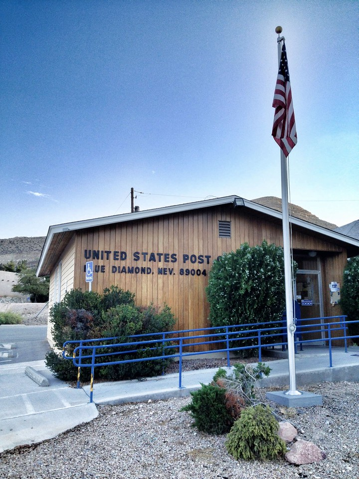 My son had baseball practice in Blue Diamond,NV.  It's a cute town that many have never been too.  But they have a nice baseball field and the post office is right across the street. I forgot my camera so today's capture is via the iPhone. <br /> Day 232 of 365<br /> 08-20-2013